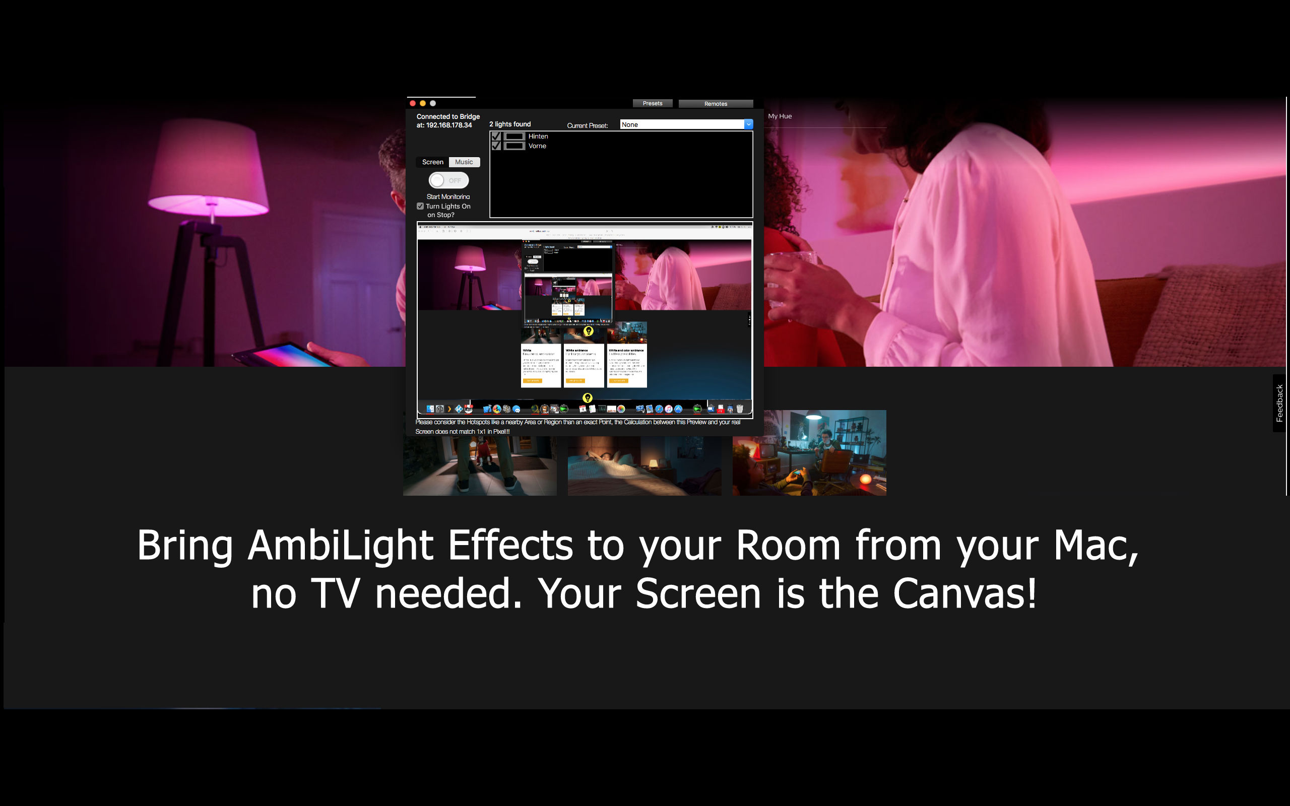 Atxx Home - AmbiDesk for Hue